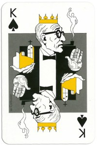 King of spades from deck Play Architecture Finnish Building Centre Rakennustieto Oy
