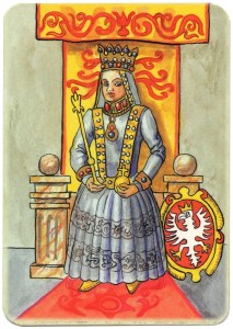 Queen of clubs Charta Bellica Hungarian cards