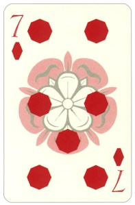Wars of roses playing card 7 of diamonds