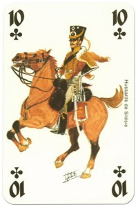 #PlayingCardsTop1000 – cavalry 10 of clubs Waterloo battle playing cards