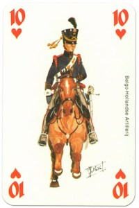 #PlayingCardsTop1000 – cavalry 10 of hearts Waterloo battle playing cards