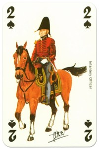 #PlayingCardsTop1000 – cavalry 2 of spades Waterloo battle playing cards