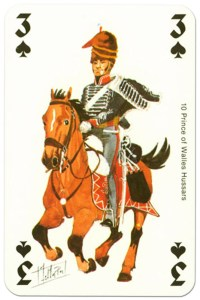 #PlayingCardsTop1000 – cavalry 3 of spades Waterloo battle playing cards