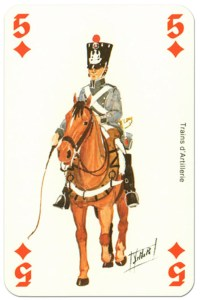 cavalry 5 of diamonds Waterloo battle playing cards