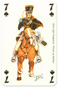 cavalry 7 of spades Waterloo battle playing cards