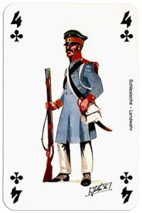 #PlayingCardsTop1000 – infantry 4 of clubs Deck Waterloo battle