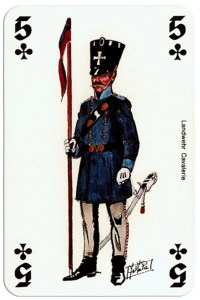 #PlayingCardsTop1000 – infantry 5 of clubs Deck Waterloo battle