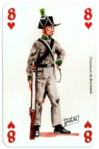 #PlayingCardsTop1000 – infantry 8 of hearts Deck Waterloo battle