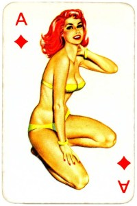 Dandy Pin up Bubble Gum advertisement cards 1956 Ace of diamonds 01