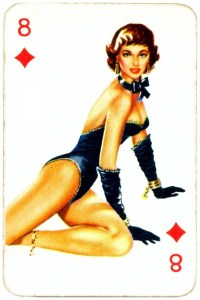 Dandy Pin up Bubble Gum advertisement cards 1956 Eight of diamonds 07