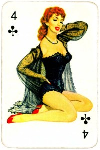 Dandy Pin up Bubble Gum advertisement cards 1956 Four of clubs 11