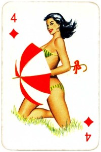Dandy Pin up Bubble Gum advertisement cards 1956 Four of diamonds 11