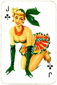 Dandy Pin up Bubble Gum advertisement cards 1956 Jack of clubs 04