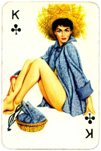 Dandy Pin up Bubble Gum advertisement cards 1956 King of clubs 02