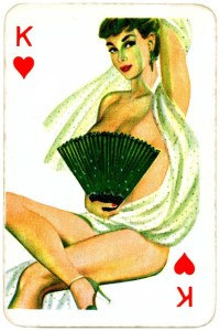 Dandy Pin up Bubble Gum advertisement cards 1956 King of hearts 02