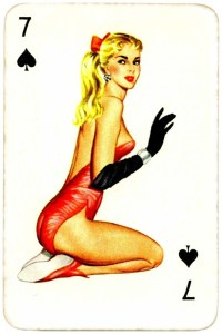 Dandy Pin up Bubble Gum advertisement cards 1956 Seven of spades 08