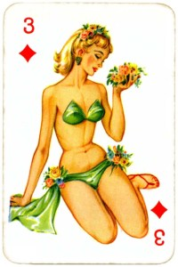Dandy Pin up Bubble Gum advertisement cards 1956 Three of diamonds 12