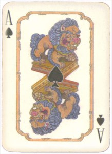 Mongolian National Economical Bank lovely graphic design Ace of spades 10