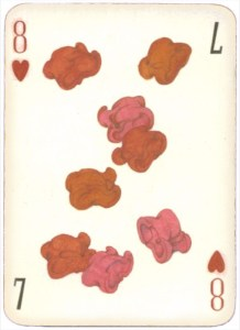 Mongolian National Economical Bank lovely graphic design Eight of hearts 07