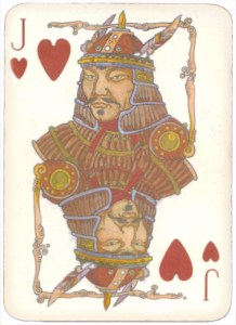 Mongolian National Economical Bank lovely graphic design Jack of hearts 11