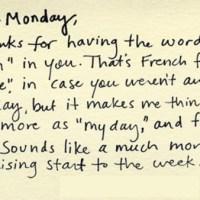 Monday, Monday ...