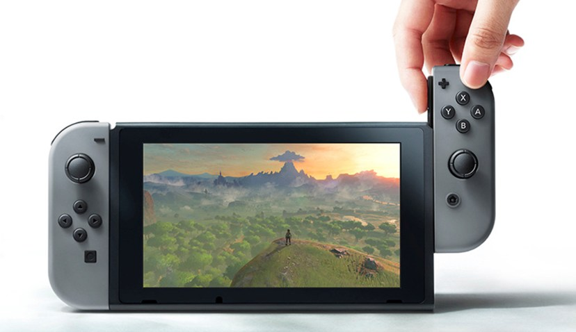 Nintendo Switch console in handheld mode