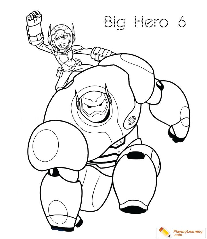 Big Hero 6 Coloring Page 20 Free Big Hero Coloring Page