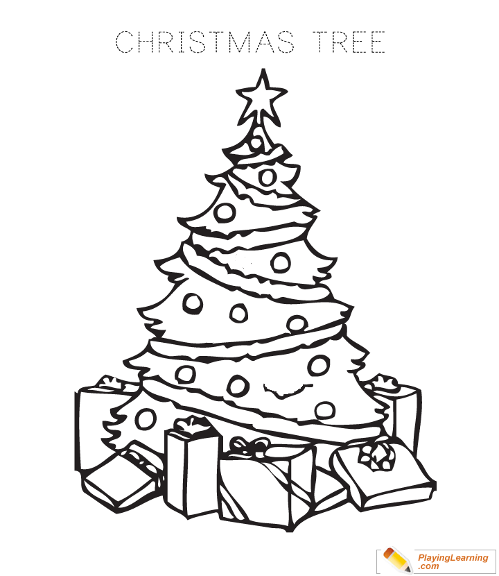 Christmas Tree Coloring Page 01 Free Christmas Tree Coloring Page