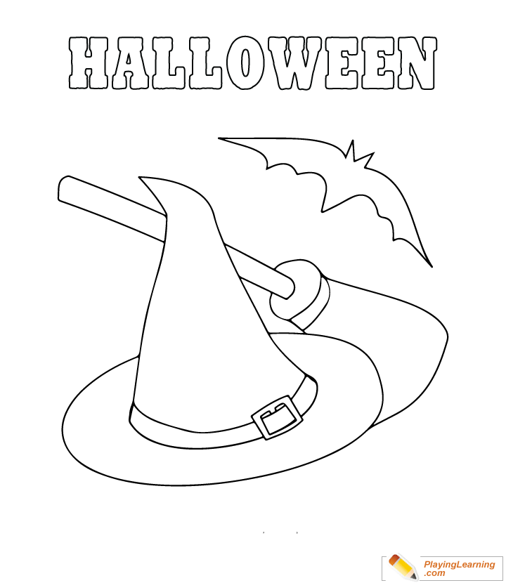 Easy Halloween Coloring Page 09 Free Easy Halloween Coloring Page