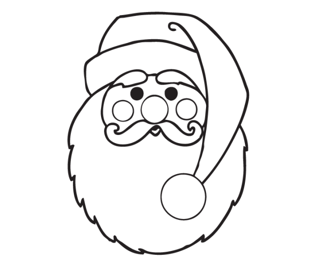 Easy Santa Claus Coloring Page  Free Easy Santa Claus Coloring