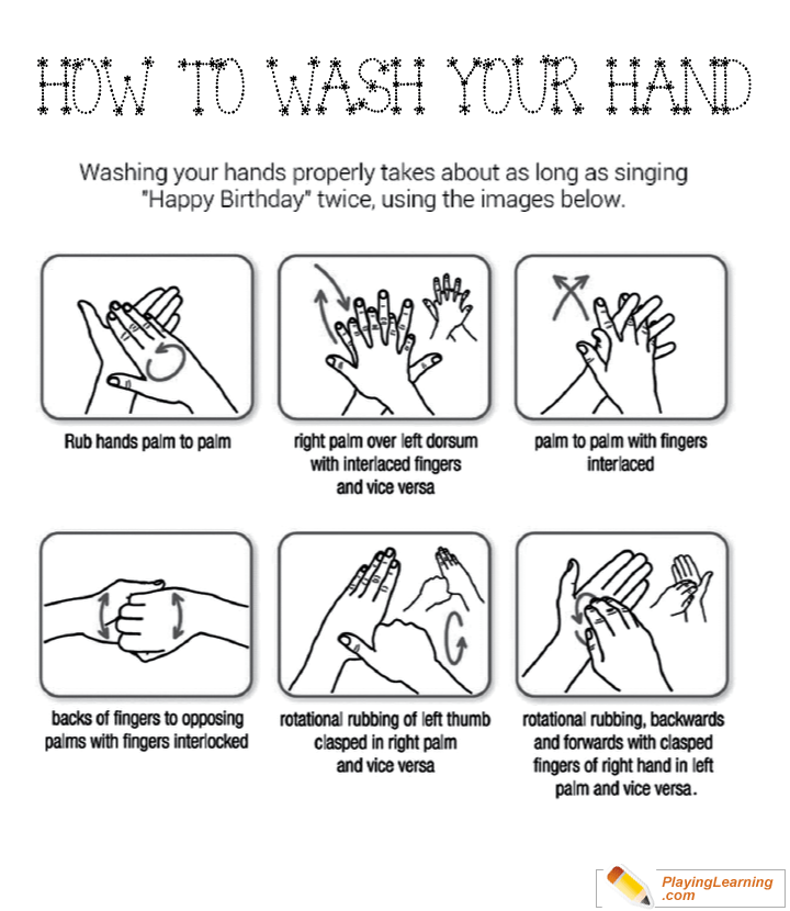 Flu Season How To Wash Hands Coloring Page 02 Free Flu Season How To Wash Hands Coloring Page
