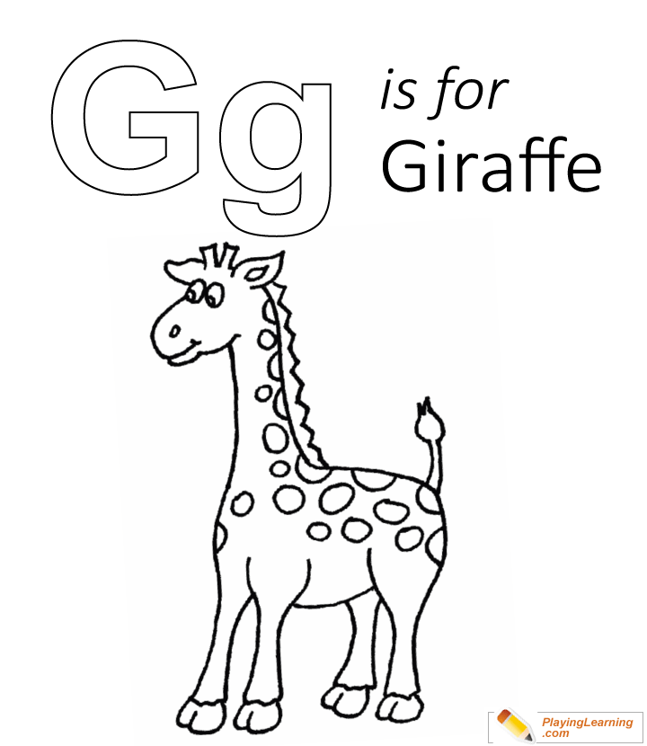 G Is For Giraffe Coloring Page Free G Is For Giraffe Coloring Page