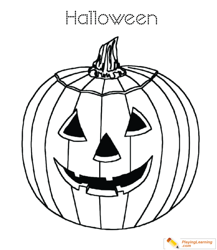 Halloween Pumpkin Coloring Page 18 Free Halloween Pumpkin Coloring Page