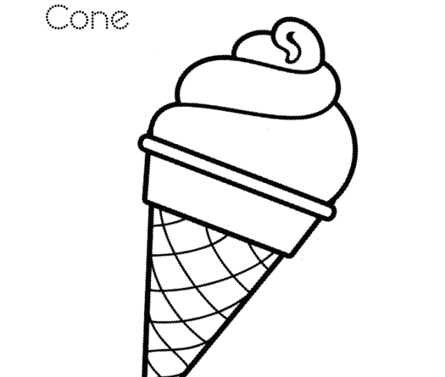 Ice Cream Coloring Page  Free Ice Cream Coloring Page