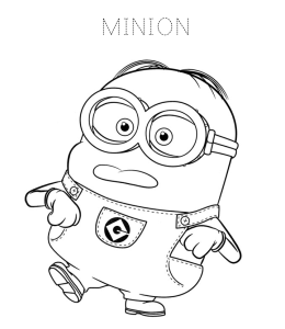 Despicable Me Minions Coloring Pages Playing Learning