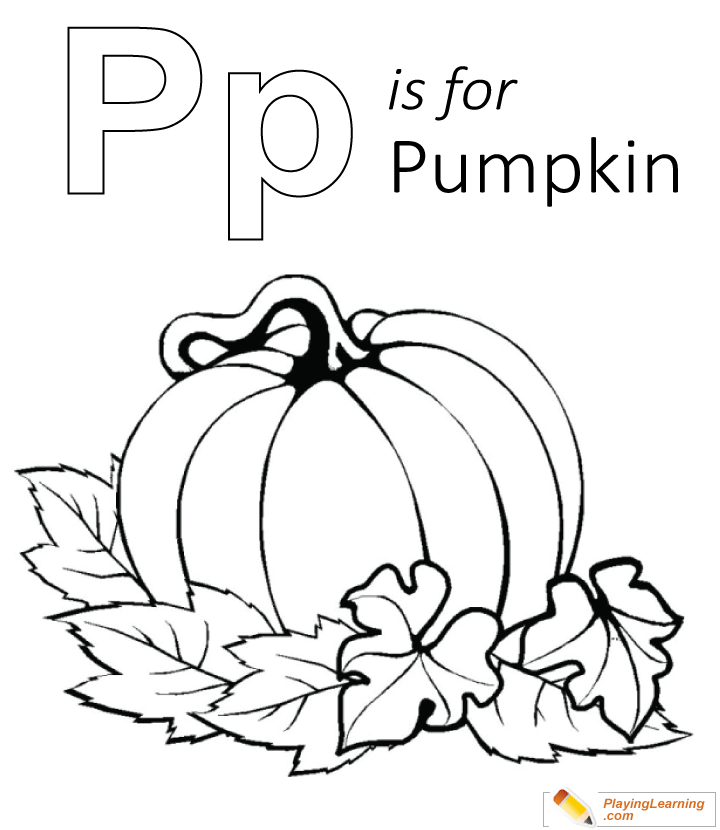 P Is For Pumpkin Coloring Page Free P Is For Pumpkin Coloring Page