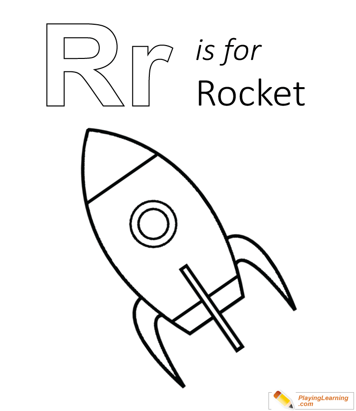 R Is For Rocket Coloring Page Free R Is For Rocket Coloring Page