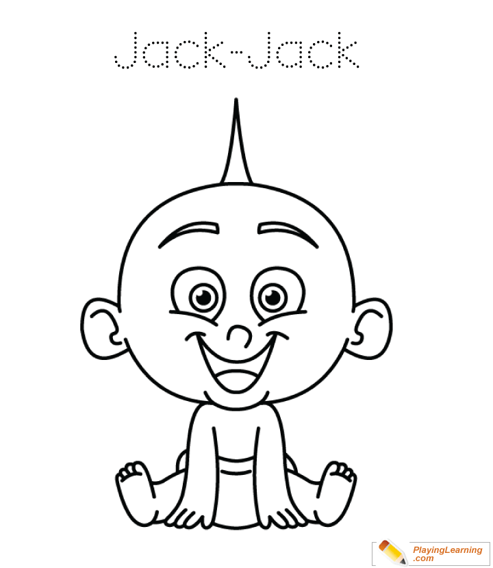 The Incredibles Coloring Pages Jack Jack