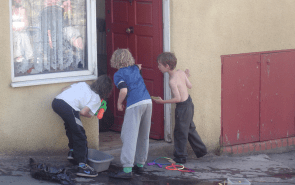 Playing on the doorstep