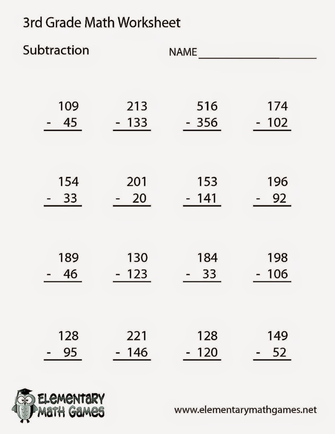 Estimation Worksheet 3rd Grade