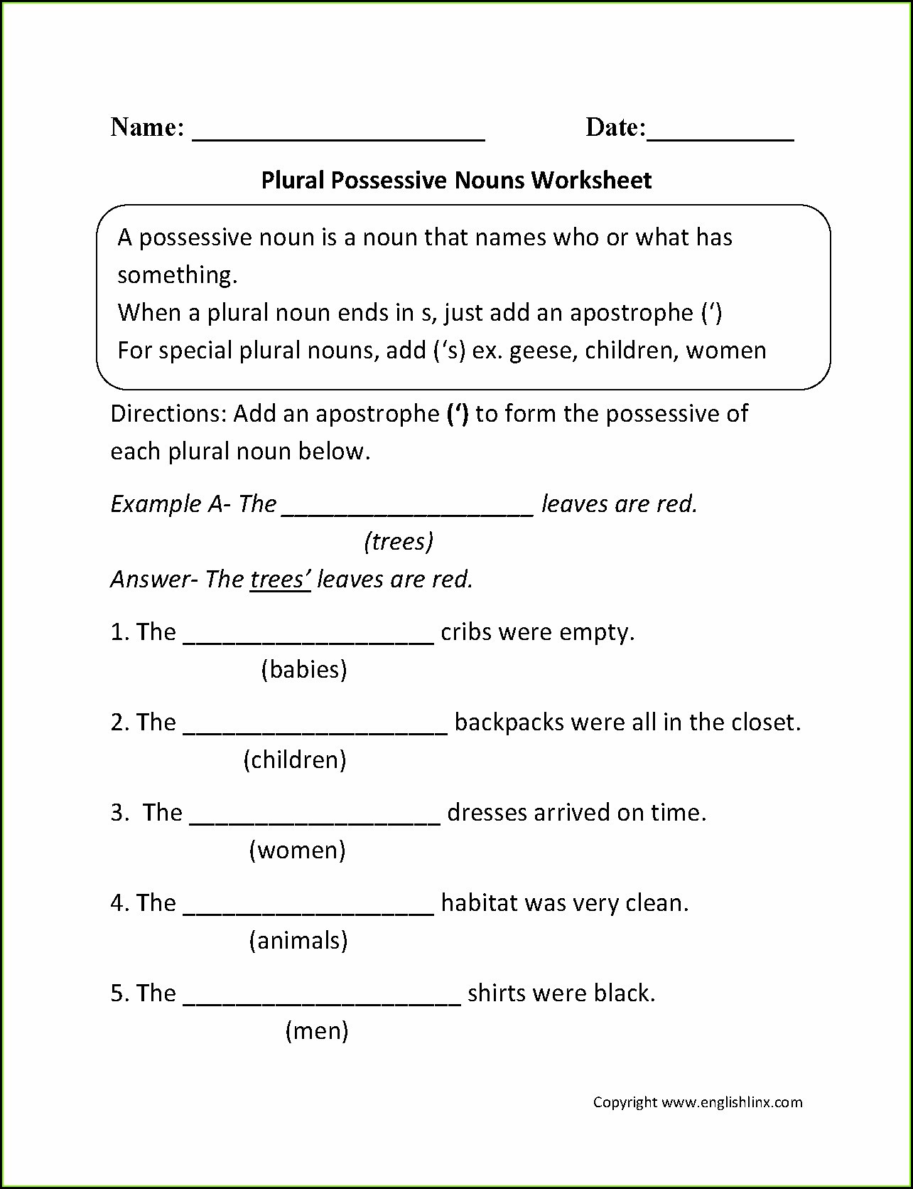 hight resolution of 5th Grade Grammar Worksheet Pronouns   Printable Worksheets and Activities  for Teachers
