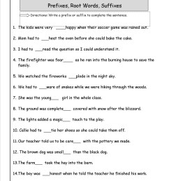 Prefix Suffix Worksheets 3rd Grade   Printable Worksheets and Activities  for Teachers [ 1650 x 1275 Pixel ]