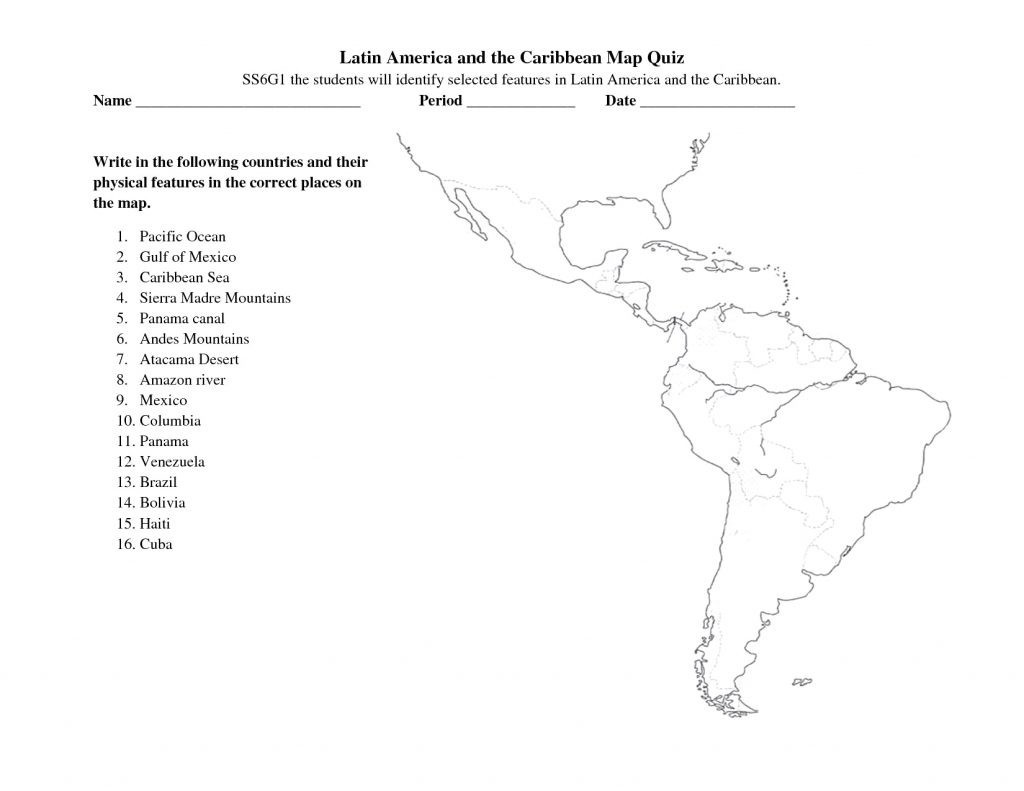 hight resolution of South America Worksheets For 6th Grade   Printable Worksheets and  Activities for Teachers