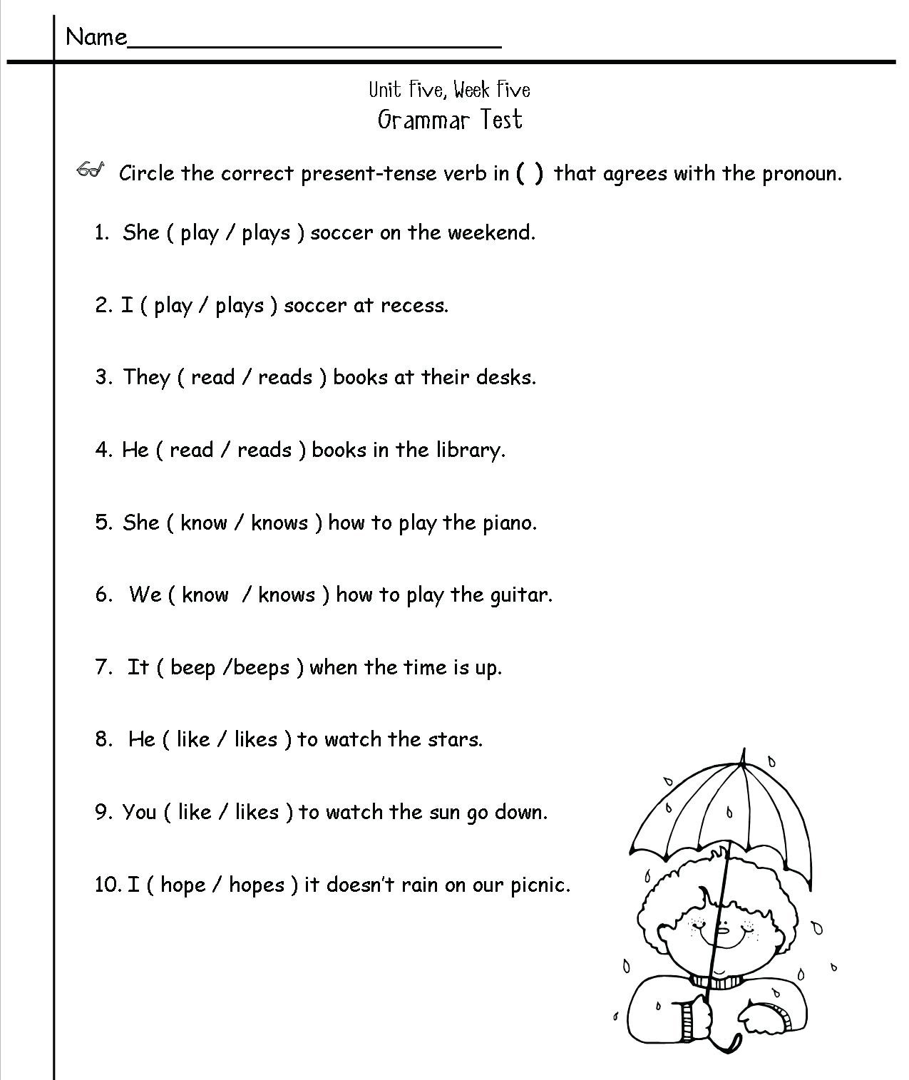 Pronoun Worksheets For 2nd Graders
