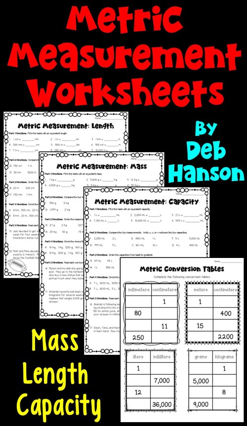 small resolution of Metric Conversion Worksheets 4th Grade   Printable Worksheets and  Activities for Teachers