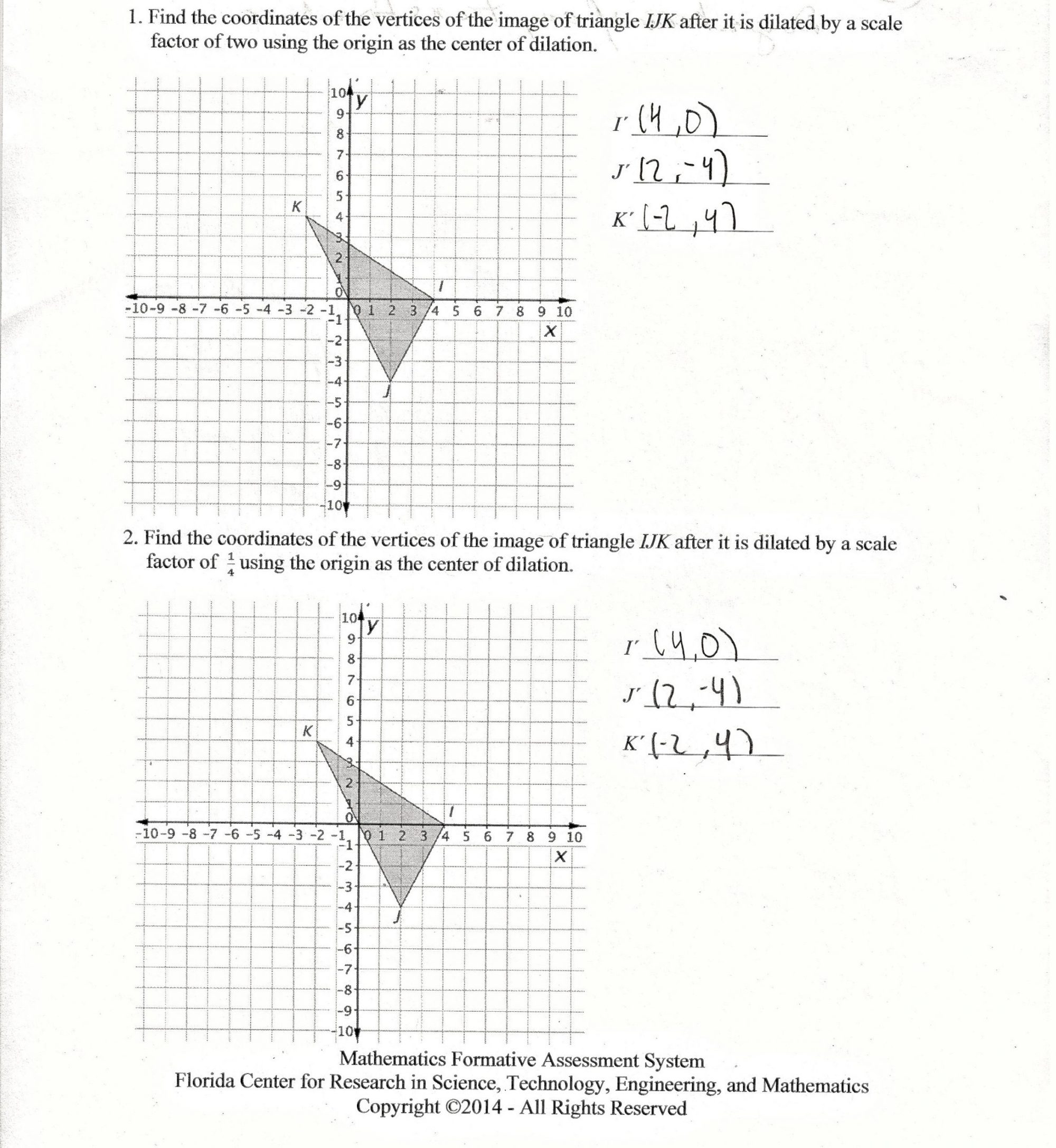 hight resolution of Worksheet On Dilations   Printable Worksheets and Activities for Teachers