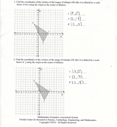 small resolution of Worksheet On Dilations   Printable Worksheets and Activities for Teachers