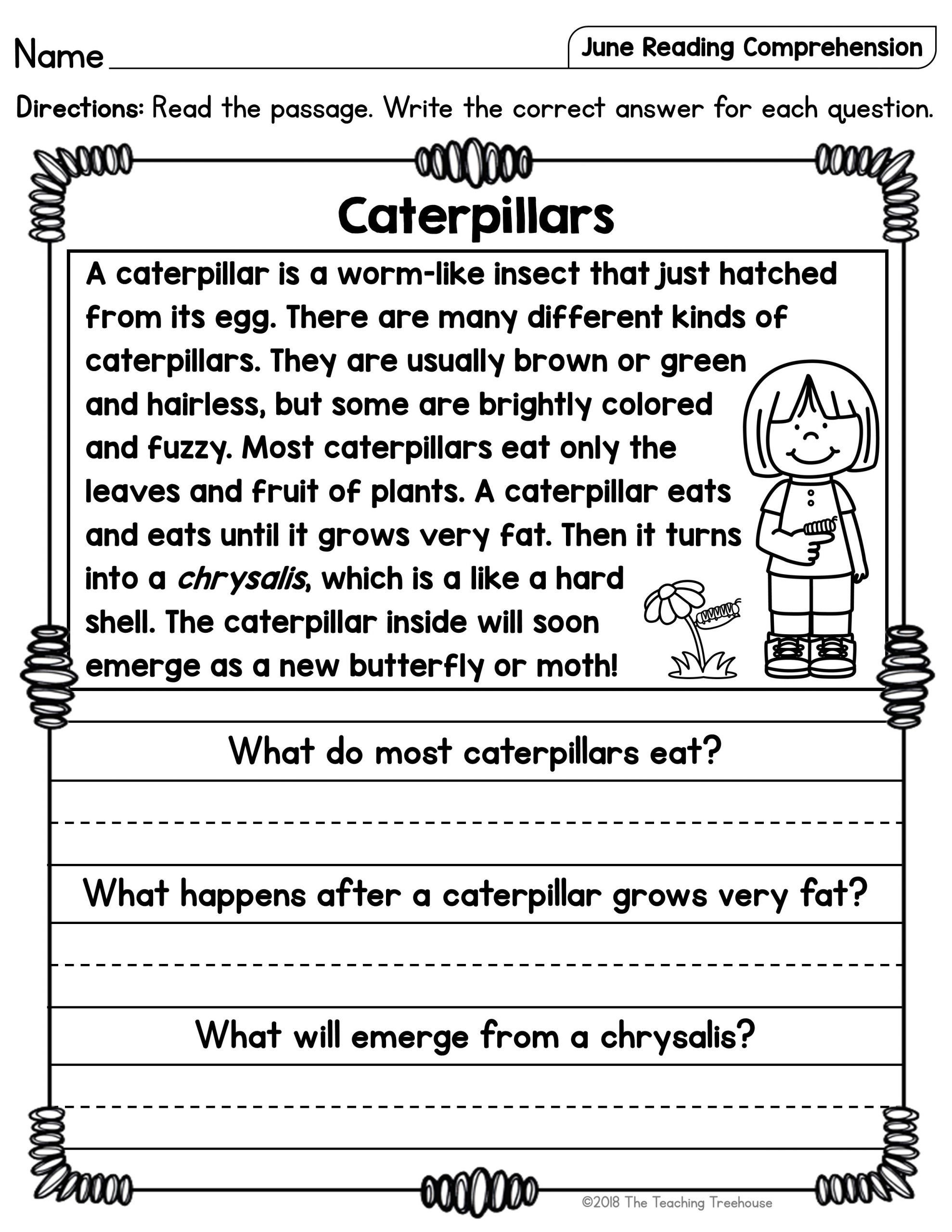 Read And Respond Worksheet