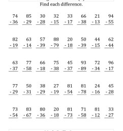 Regrouping Subtraction Worksheets 3rd Grade   Educational Template Design [ 1325 x 1024 Pixel ]