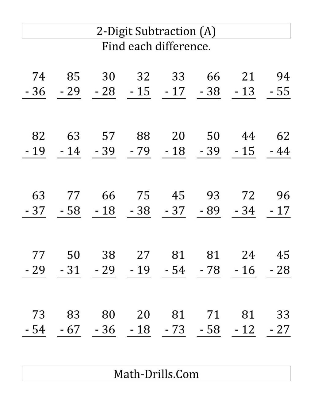hight resolution of Regrouping Subtraction Worksheets 3rd Grade   Educational Template Design